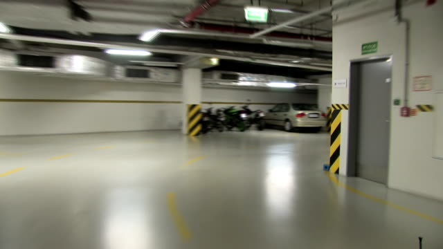 exiting the underground parking - car park stock videos & royalty-free footage