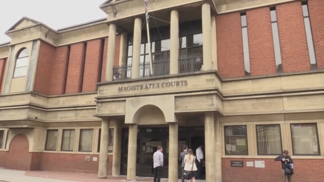 ex-kasabian singer, tom meighan, arrives at leciester magistrates' court where he is appearing on a domestic assault charge. on monday a statement... - arts culture and entertainment stock videos & royalty-free footage