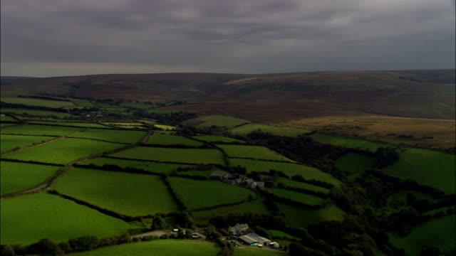 Exmoor - luchtfoto - Devon, in het Engelse District van North Devon, Verenigd Koninkrijk