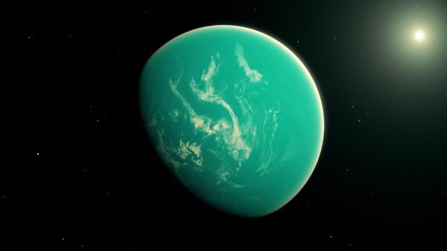 vídeos de stock, filmes e b-roll de exoplaneta - espaço e astronomia