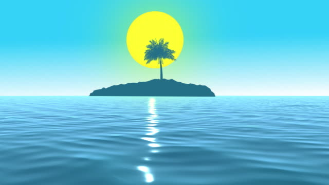 Exotic Island And Blue Sky