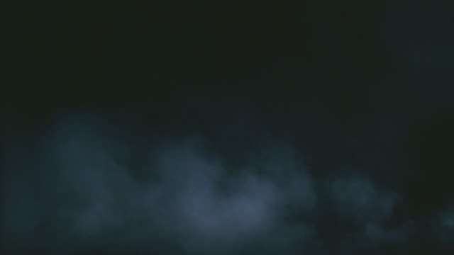 ws expanding cloud against black background - fog stock videos & royalty-free footage