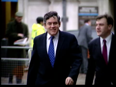 expected interest rate rise lib london gordon brown mp towards with other gv shoppers along in shopping centre/ people in electrical store/ customer... - 2004 stock videos & royalty-free footage