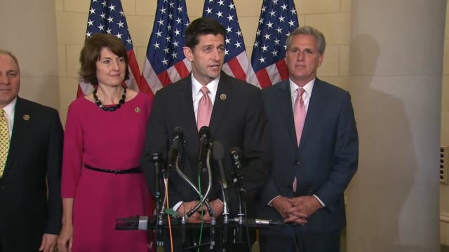 expected speaker of the house paul ryan of wisconsin tells reporters after his nomination by republican colleagues that it represents a new day for... - nomination stock videos & royalty-free footage