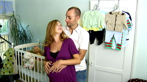 expecting couple - see other clips from this shoot 1107 stock videos & royalty-free footage
