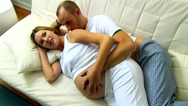 expecting couple - see other clips from this shoot 1107 stock videos and b-roll footage