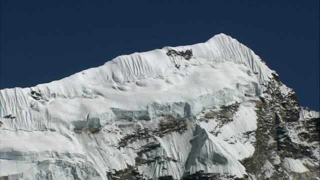 imja glacial lake / khumbu glacier valley and khumbu icefall nepal himalayas western cwm valley ext general views of imja meltwater glacial lake and... - khumbu stock videos and b-roll footage