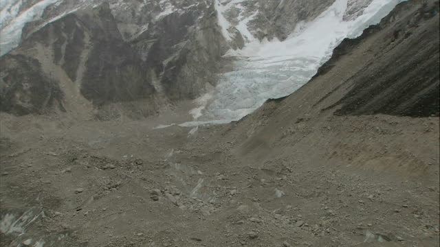 khumbu icefall / sherpa ceremony / base camp views / alpine chough birds nepal himalayas western cwm valley ext various shots of khumbu icefall and... - icefall stock videos and b-roll footage