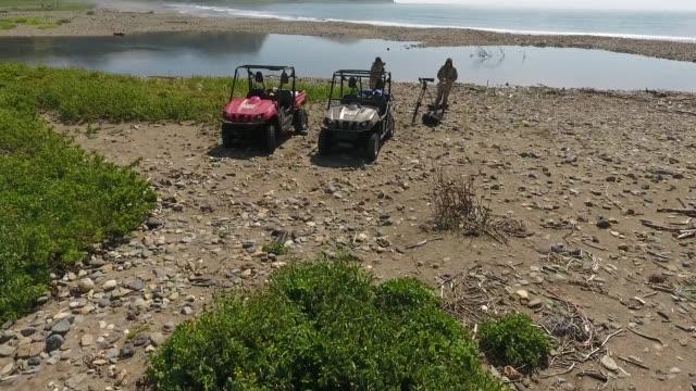 expedition on kunashir island (kuril islands) - quadbike stock videos & royalty-free footage