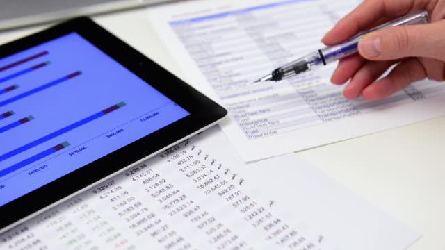 expense sheet - financial bill stock videos & royalty-free footage