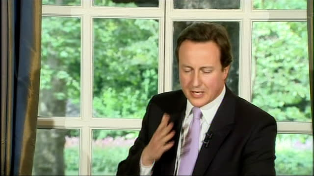 mps' told to pay money back; int david cameron mp press conference sot - when i read the swimming pools, the moats, i am completely apalled / people... - 堀点の映像素材/bロール