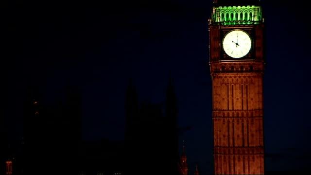 cameron calls for mps to be prosecuted / poll puts labour in third place; london: night illuminated big ben clock illuminated parliament buildings... - parlamentsledamot bildbanksvideor och videomaterial från bakom kulisserna