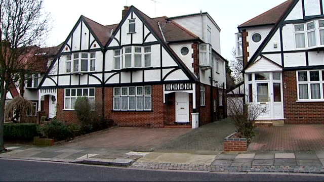 Lord Taylor of Warwick jailed T25011119 London Ealing Mock tudor semidetached house Close up of front door of house