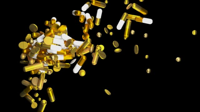 expensive medicine | golden pills - ascorbic acid stock videos & royalty-free footage