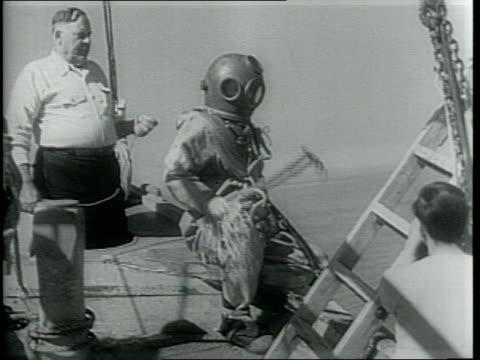 vídeos y material grabado en eventos de stock de 200 experienced greek sponge divers go out daily in the gulf of mexico / - esponja