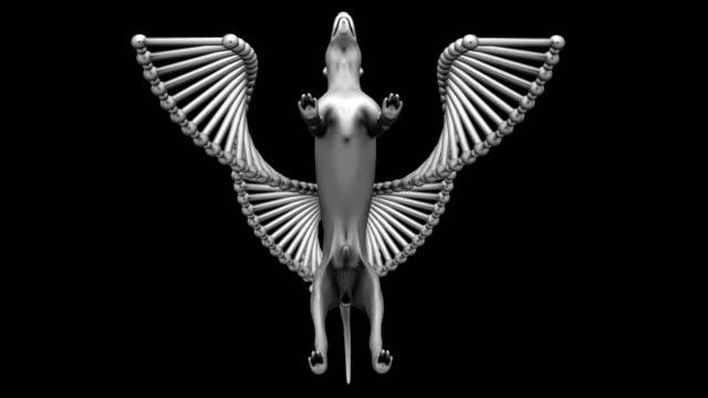 vídeos de stock, filmes e b-roll de animação de experimento de dna - parte do corpo animal
