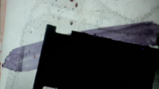 experimental hintergrund#4 16 mm - handcoloriert stock-videos und b-roll-filmmaterial