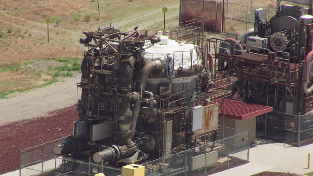 cu aerial experimental breeder reactor 1 / idaho, united states - nuclear reactor stock videos and b-roll footage