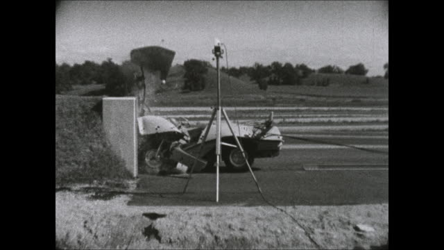 1969 amc experimental chassis crash test - crash test stock videos & royalty-free footage