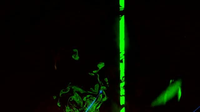 Experimental lasers through fog Background