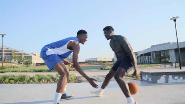 expert basketball player illustrates how to dribble past adversary - number 6 stock videos & royalty-free footage