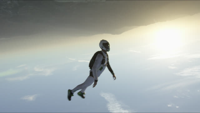 expert skydiver in free fall - performance stock videos & royalty-free footage