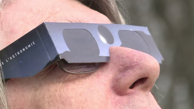 experts are warning people to protect their eyes as they watch the solar eclipse friday morning either with special eclipse glasses or by watching... - cooking utensil stock videos & royalty-free footage