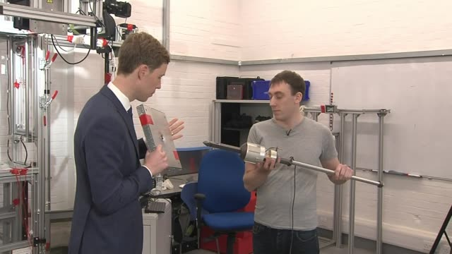 experts come up with plan to tackle the problem of space junk england hertfordshire stevenage airbus int alastair wayman interview sot panel that was... - harpoon stock videos and b-roll footage