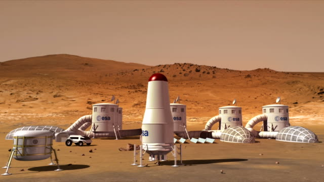 Exploratory base on Mars