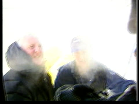 explorer david hemplemanadams itn explorers david hemplemanadams and rune gjeldnes seen as specks on snow from aircraft overhead hemplemanadams and... - ski pole stock videos & royalty-free footage
