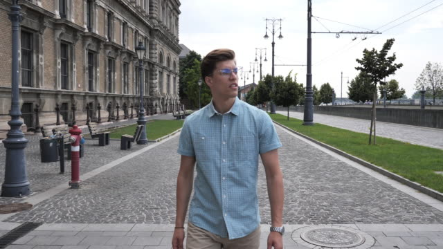 exploring budapest and its' 9th district in summer - modern manhood stock videos & royalty-free footage