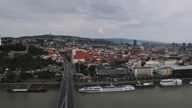 exploring europe and slovakia - city of bratislava, downtown and old town - eastern european culture stock videos & royalty-free footage