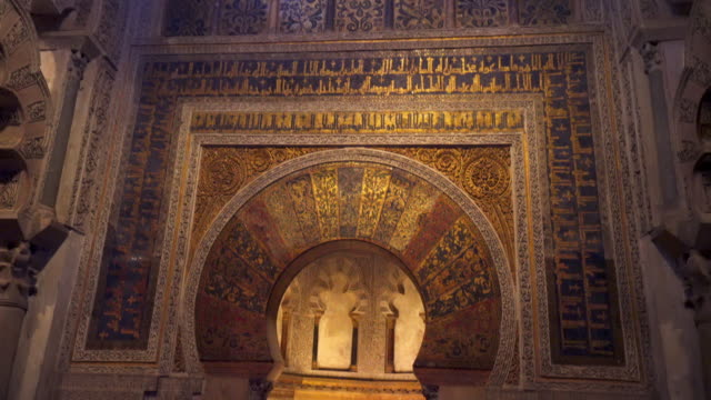 exploring mosque-cathedral of cordoba spain 4k video - cathedral stock videos & royalty-free footage
