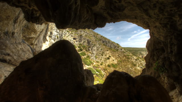 exploring mountain cave - speleology stock videos and b-roll footage