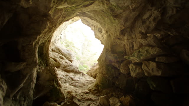 exploring mountain cave - high dynamic range imaging stock videos and b-roll footage