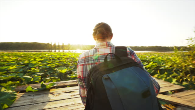 exploring new places. - rucksack stock videos and b-roll footage