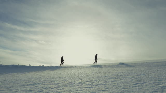 exploring the arctic: hiking on the ice - arctic stock videos & royalty-free footage