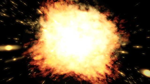 爆発 01 火災 - 爆発点の映像素材/bロール