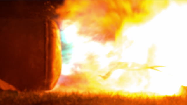 slo mo explosion at night - handgun stock videos and b-roll footage