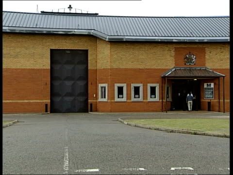 explosion at whitemoor prison england cambridgeshire whitemoor prison whitemoor prison entrance ms sign at prison entrance gv entrance doorway closing - whitemoor prison stock videos and b-roll footage
