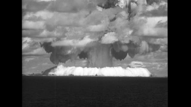 explosion atomic weapon test baker operation crossroads - bikini atoll stock videos & royalty-free footage