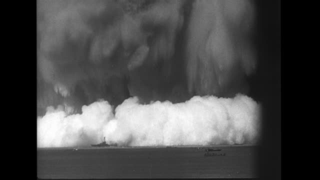 explosion atomic weapon test baker operation crossroads - marshall islands stock videos & royalty-free footage