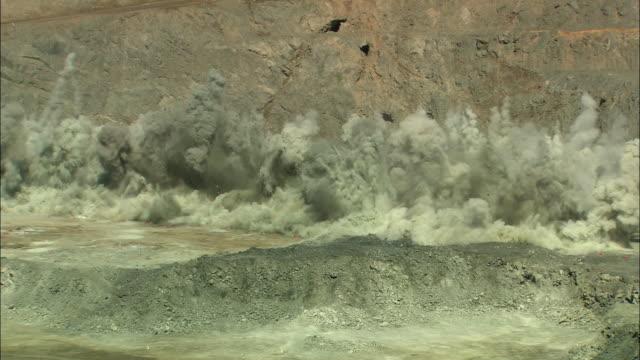 ws ha explosion in goldmine, kalgoorlie, western australia, australia - gold mine stock videos and b-roll footage