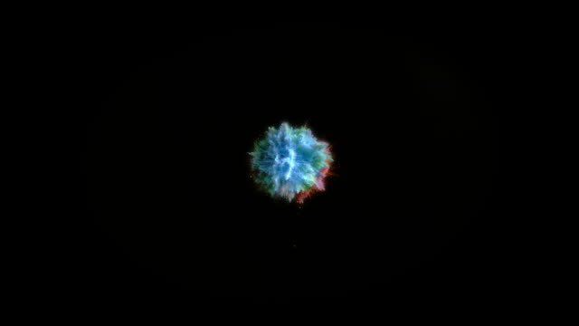 explosion of blue powder - colours stock videos & royalty-free footage