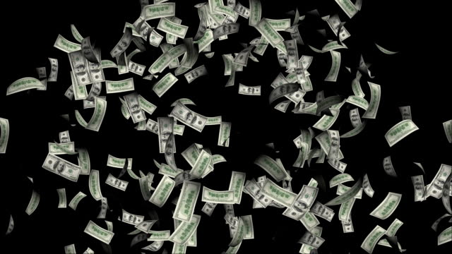 explosion of dollars with alpha - us dollar note stock videos & royalty-free footage