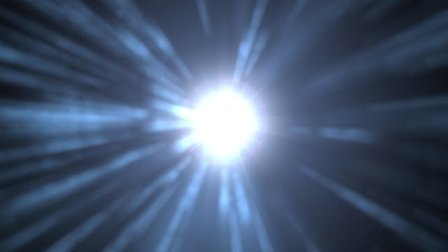 Explosion of Light with Lens Flare