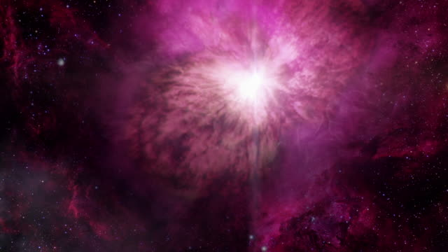 vídeos de stock, filmes e b-roll de gfx 'explosion' of pink light in space - elemento de desenho