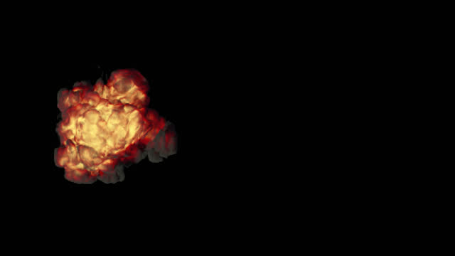 explosion top view transparent - weapons of mass destruction stock videos & royalty-free footage