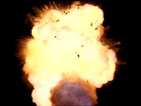 Explosion with debris