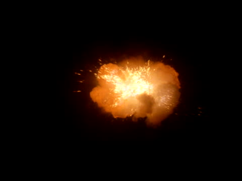 Explosion with white center